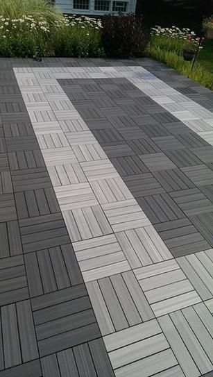 Newtechwood Ultrashield 1 Ft X 1 Ft Quick Deck Outdoor Composite Deck Tile In Westminster Gray 10 Tiles Case Qd Pk Gy The Home Depot Patio Flooring Deck Tile Outdoor Deck Decorating