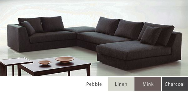 Saxton Modular sofa from Papaya : modular sofa with chaise - Sectionals, Sofas & Couches