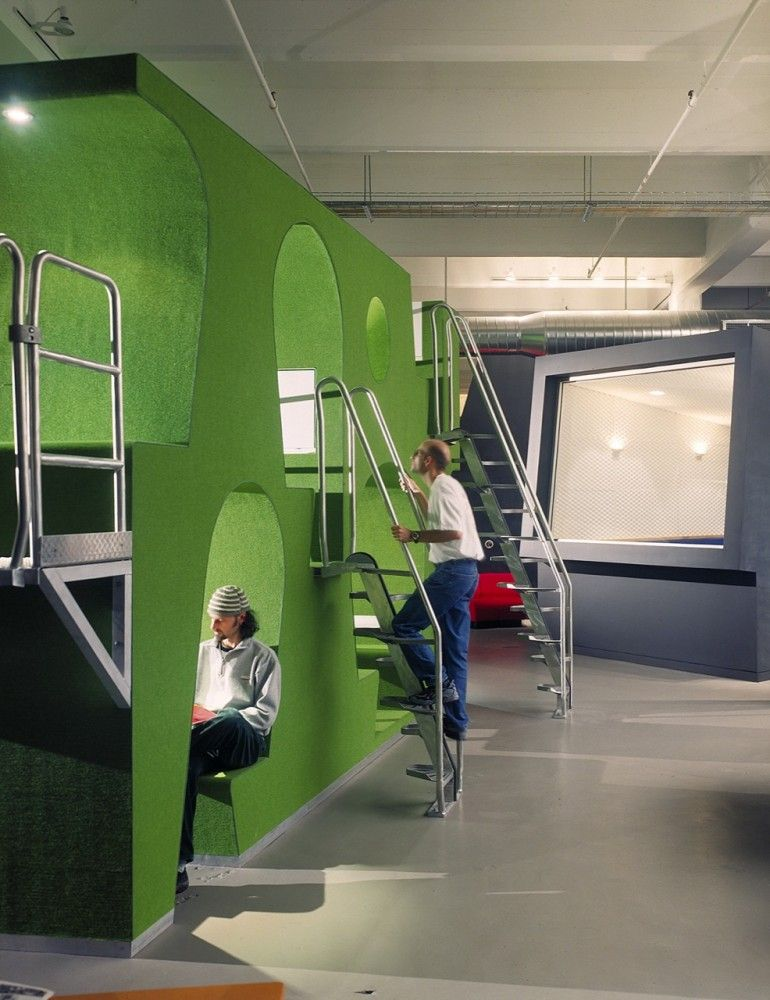 Cool Interior Office Designs With Plants: KBP West Offices / Jensen Architects/Jensen & Macy