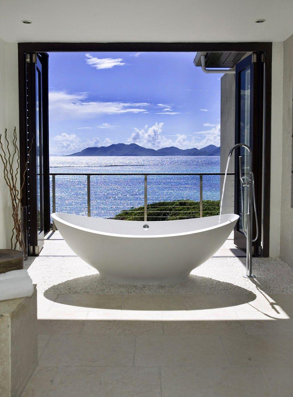 Wanderlust: Caribbean Bathroom Bliss Edition | Modern bathtub ...