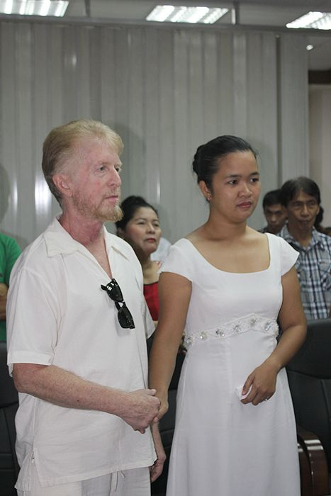Another shot of us taking our vows together.  It was a civil ceremony at Legazpi City Hall, with the Mayor presiding.