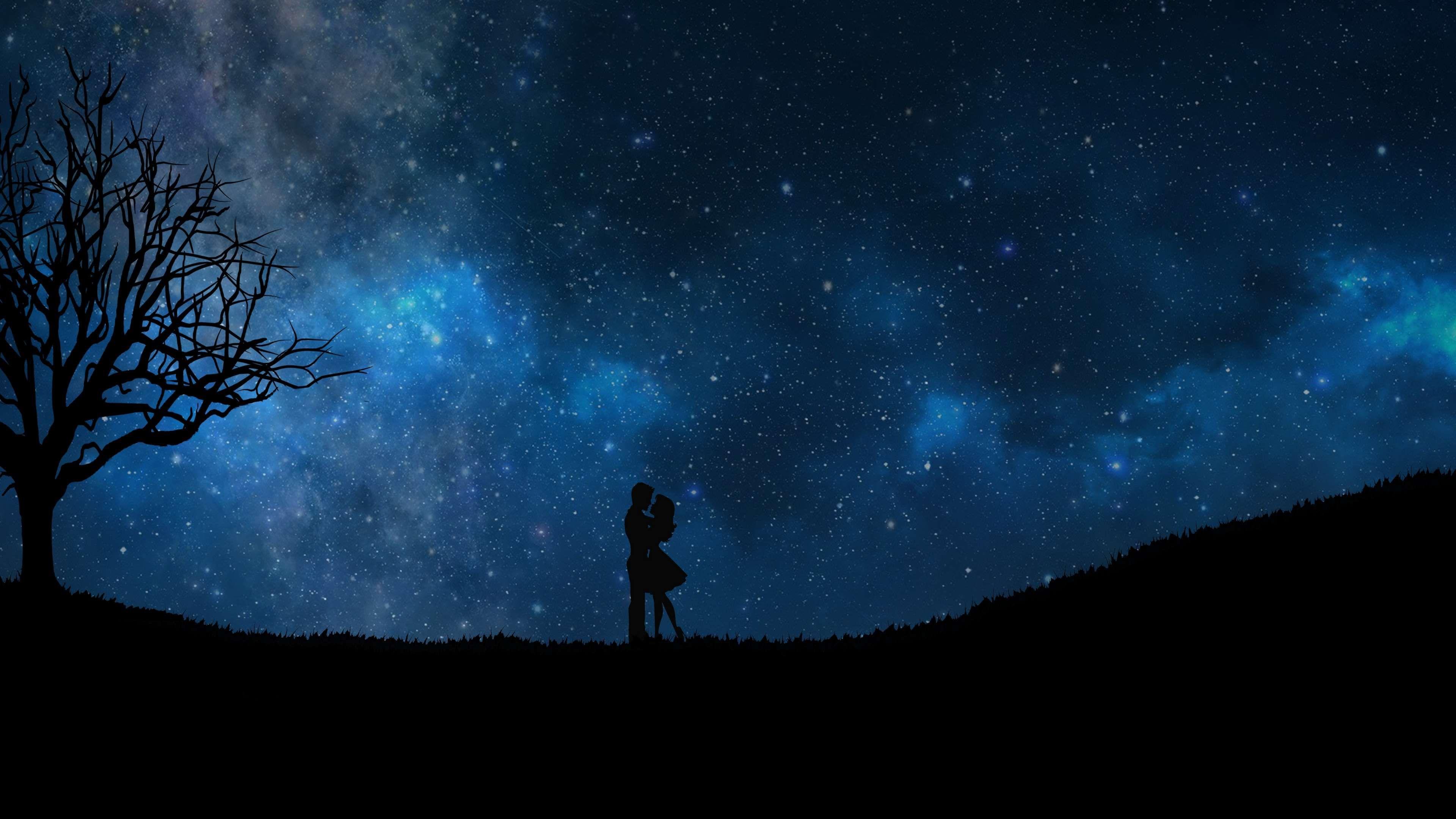3840x2160 animated, anime, art, blue sky, boy, couple