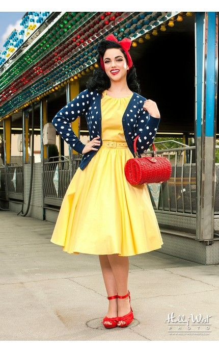 On The Dot Cardigan In Navy Pinup Girl Clothing Vestidos De Epoca Retro Ropa De Los Anos 50 Vestidos De Los Anos 60