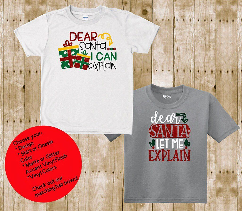 53917fe0 Excited to share this item from my #etsy shop: Kids Naughty Nice Christmas  Long & Short Sleeve shirt | Family Christmas Shirts | Matching Christmas  Shirt ...