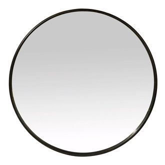 80 euros 60 cm miroir rond mural en fer noir boudoir. Black Bedroom Furniture Sets. Home Design Ideas