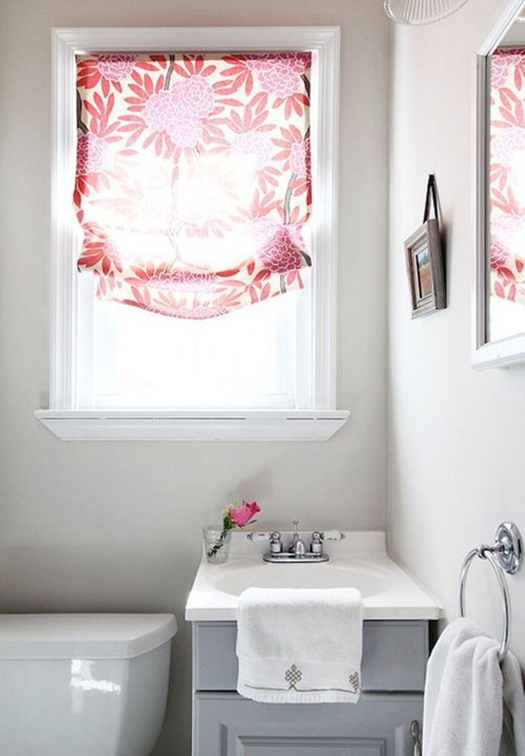 Bathroom Window Curtains | Bathroom renovation ideas | Pinterest ...