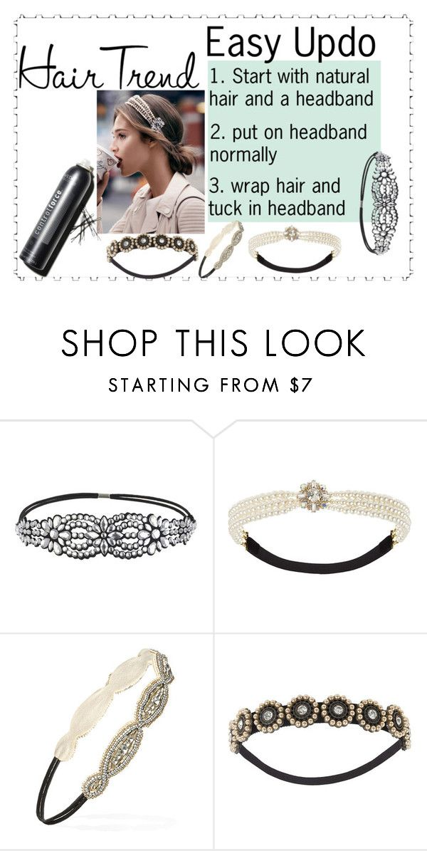"""Easy Updo"" by missjennaluv ❤ liked on Polyvore featuring beauty, Miss Selfridge, Topshop and Forever 21"