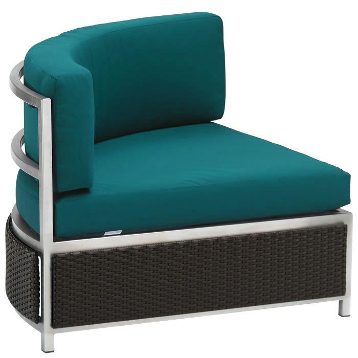 Cabana Club Aluminum Curved Corner Module Furniture Outdoor Patio Furniture Tropitone