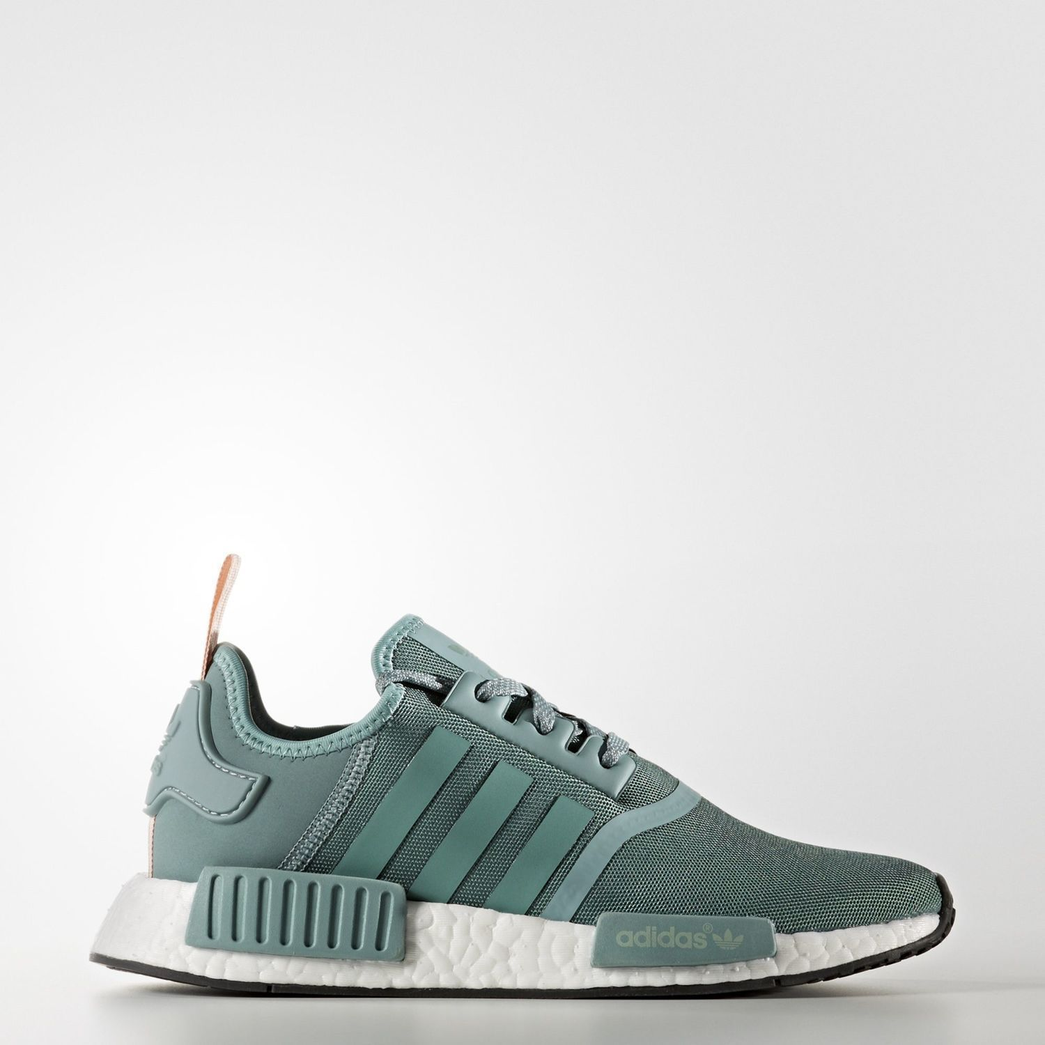 Women'S Adidas Nmd R1 Vapour Steel / Teal / Pink S76010 Green Turquoise ...