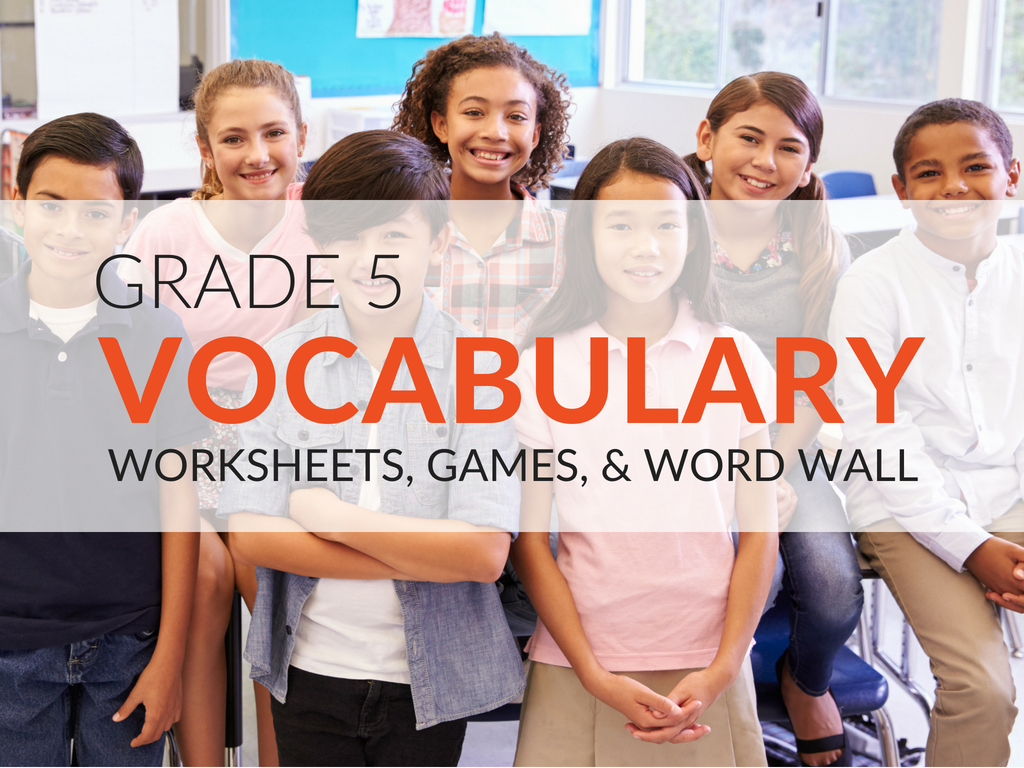 5th Grade Vocabulary Worksheets Games And Resources
