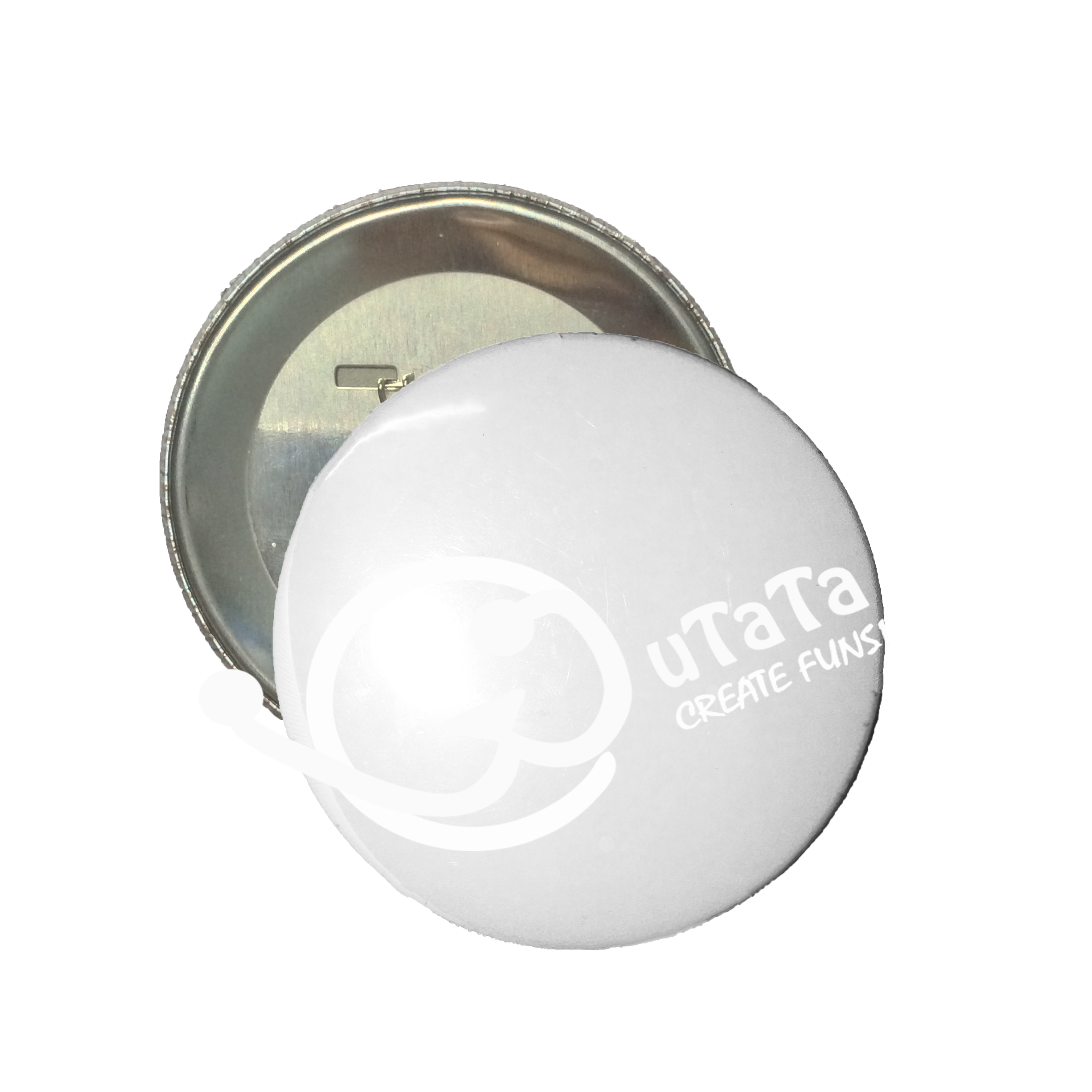 Our DIY 75mm Round button.  Put your only own design on #WuTaTa!