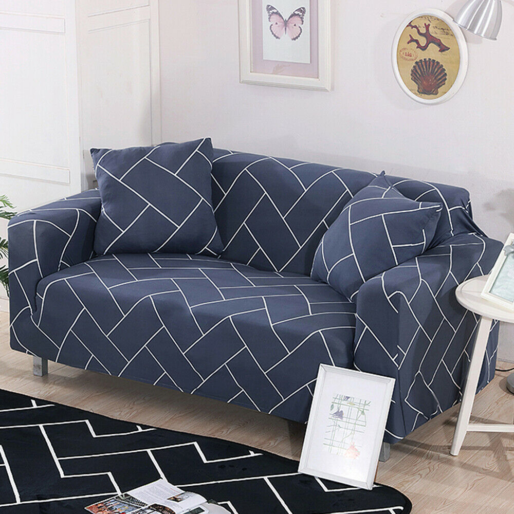 Printed Slipcover Sofa Covers Spandex Stretch Couch Cover Furniture Protector Ebay Sofa Covers Couch Covers Cushions On Sofa