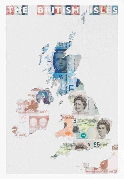 Money Map of The British Isles by Justine Smith