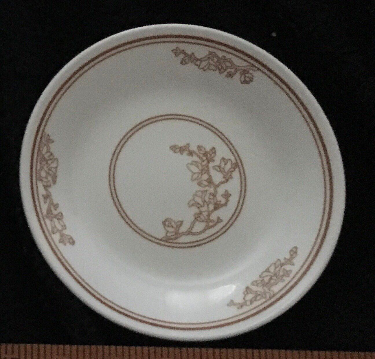 2 Corelle Oriental Wood Bread & Butter Plates 6 3/4 Dishes