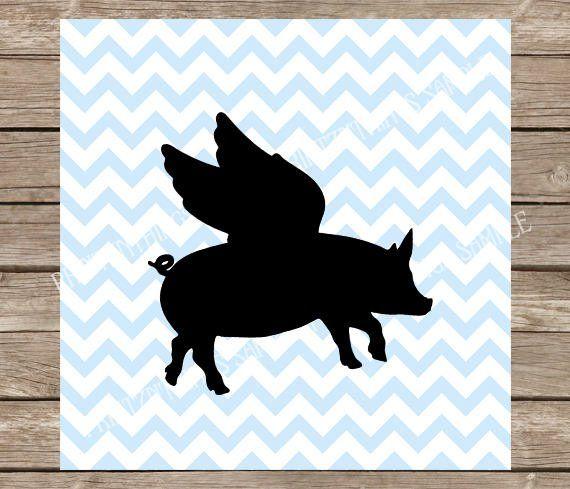 Download Pig svg, Flying Pig, Farm svg, Flying Pig svg, Farm, Pigs ...