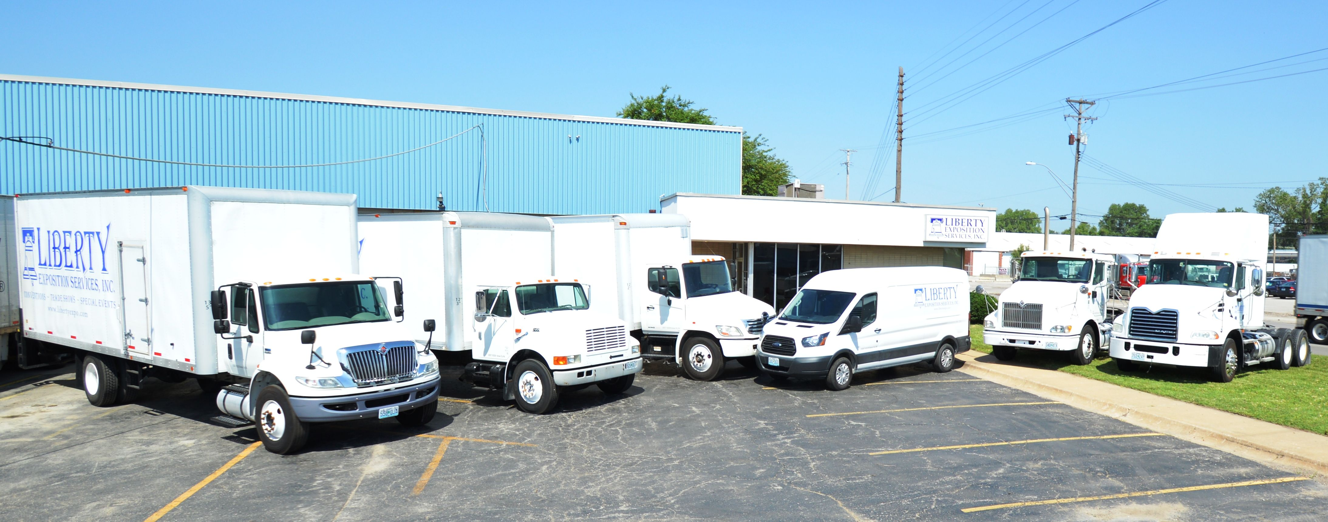 Liberty Expo S Truck Fleet Including Two Straight Trucks One Box
