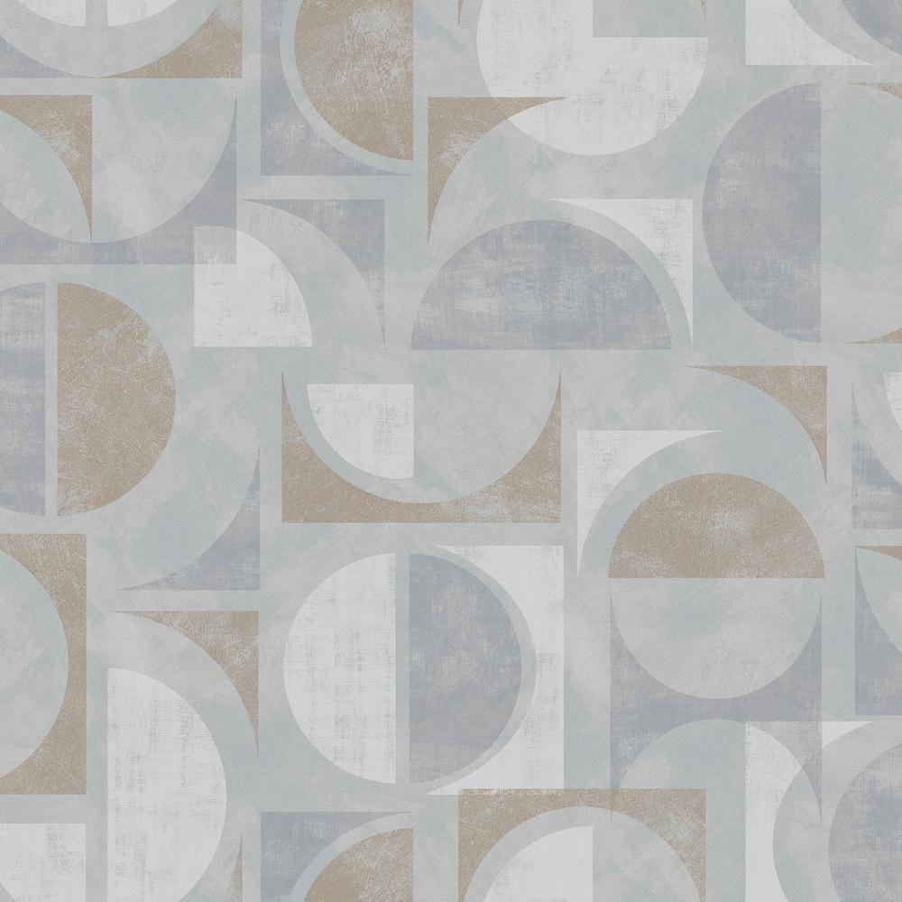 Brewster Hamar Neutral Geometric Wallpaper Sample 273442453SAM  The Home Depot273442453sam