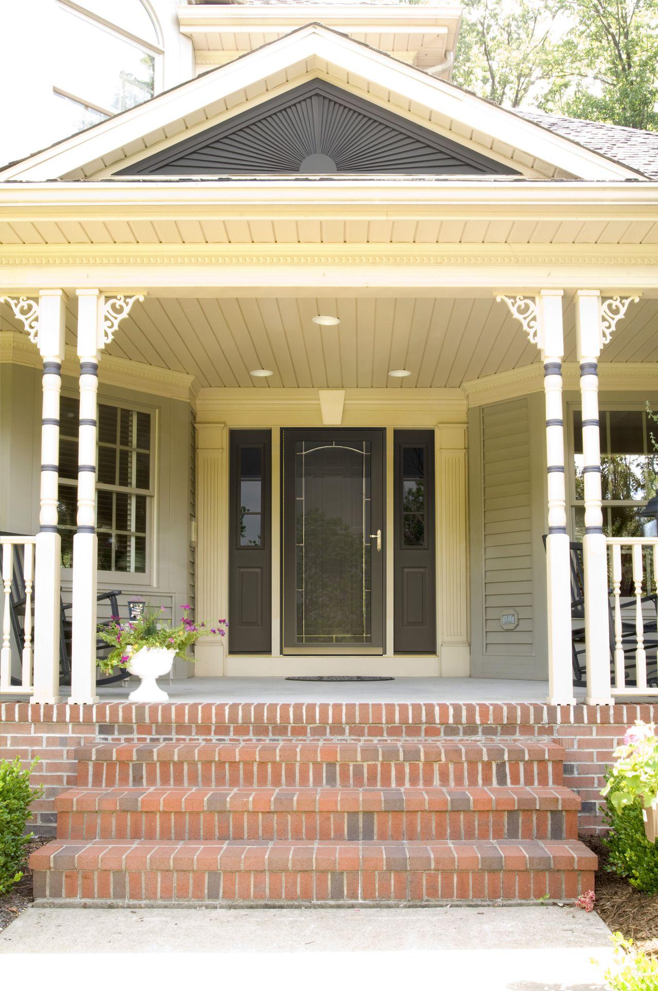 Provia S Decorator Storm Doors Have Multiple Glass Options To Choose From Enabling You To Personalize Your Door To Match Your Aluminum Storm Doors Doors Entry Doors
