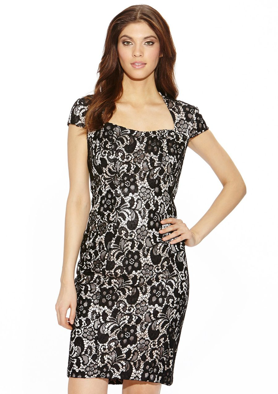JAX All Over Lace Cap Sleeve Cocktail Dress $59.99   My Style ...