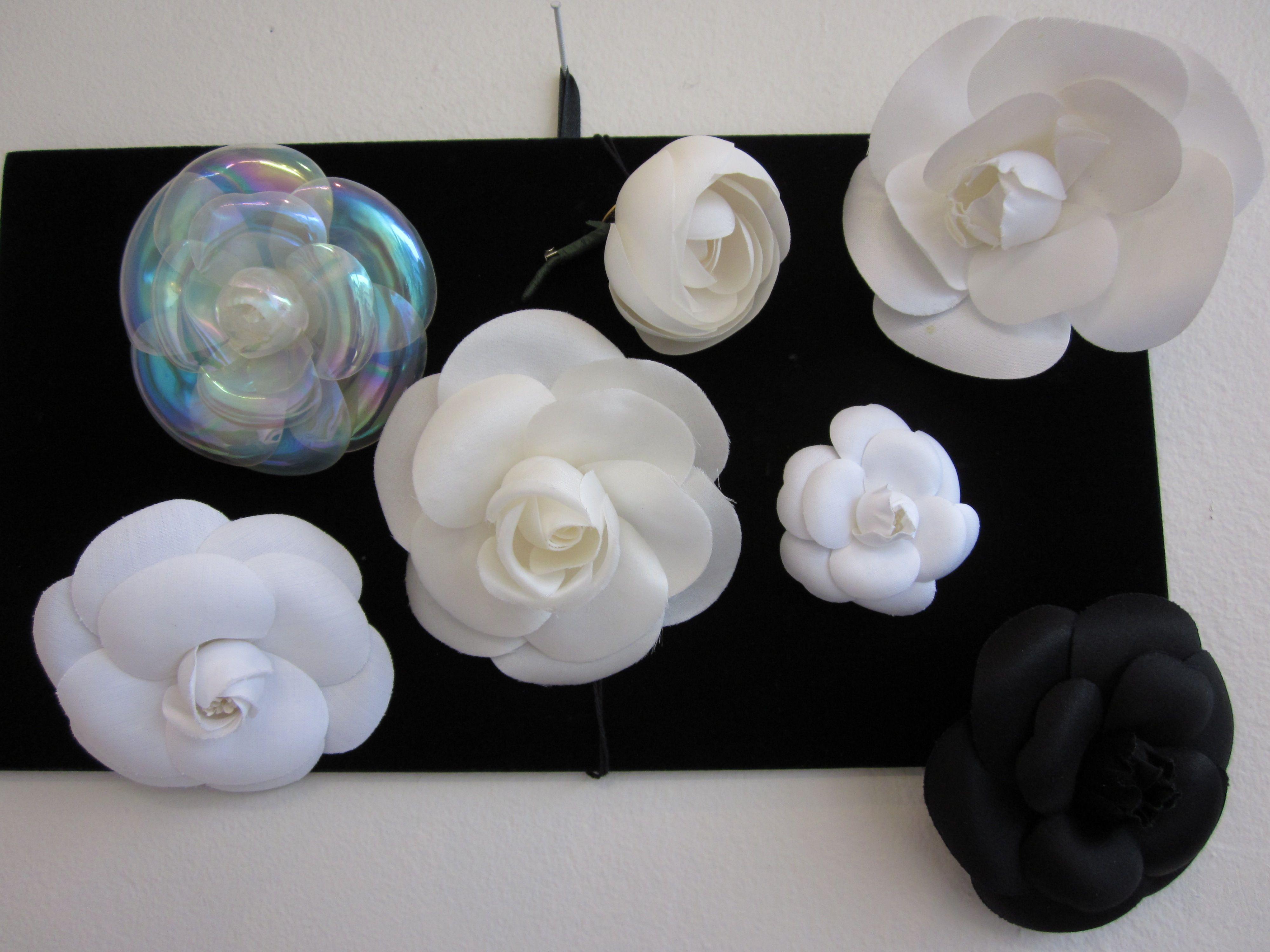 Chanel Camellias Fabric Flowers Bridal Bands Felt Flowers Diy