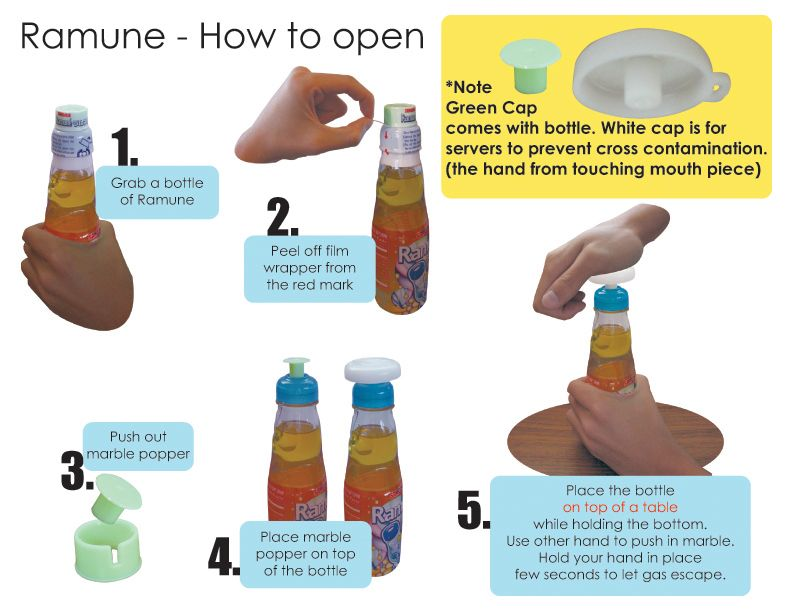 Ramune Carbonated Soft Drink How To Open