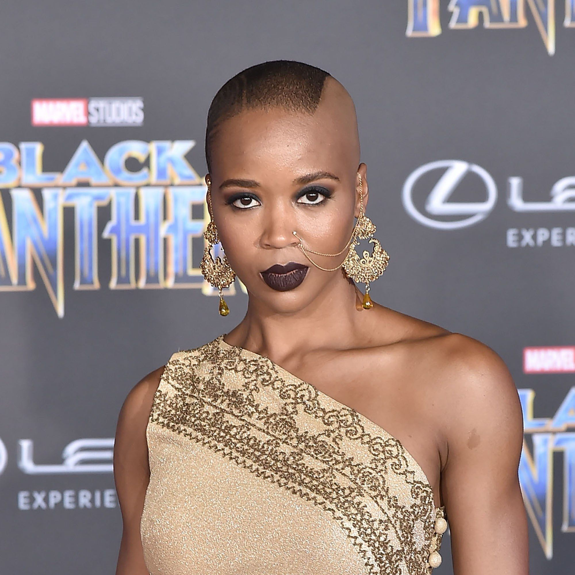 """The """"Black Panther"""" Premiere Had Some ICONIC Hair and Makeup Looks   Short hair styles, Black ..."""