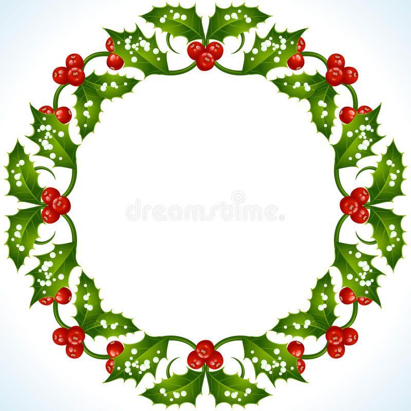 Christmas Holly Frame Vector Christmas Holly Round Frame Ad Holly Christmas Vector Frame A Christmas Card Design Christmas Holly Christmas Vectors