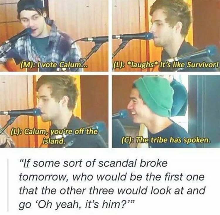 Pin by nicole on •five seconds of summer• | 5sos memes ...