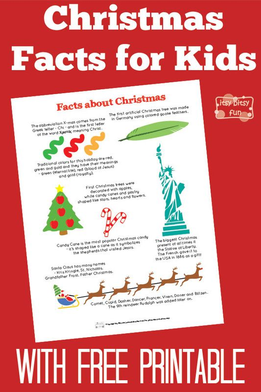 fun christmas facts for kids with free printables - Christmas Trivia Facts