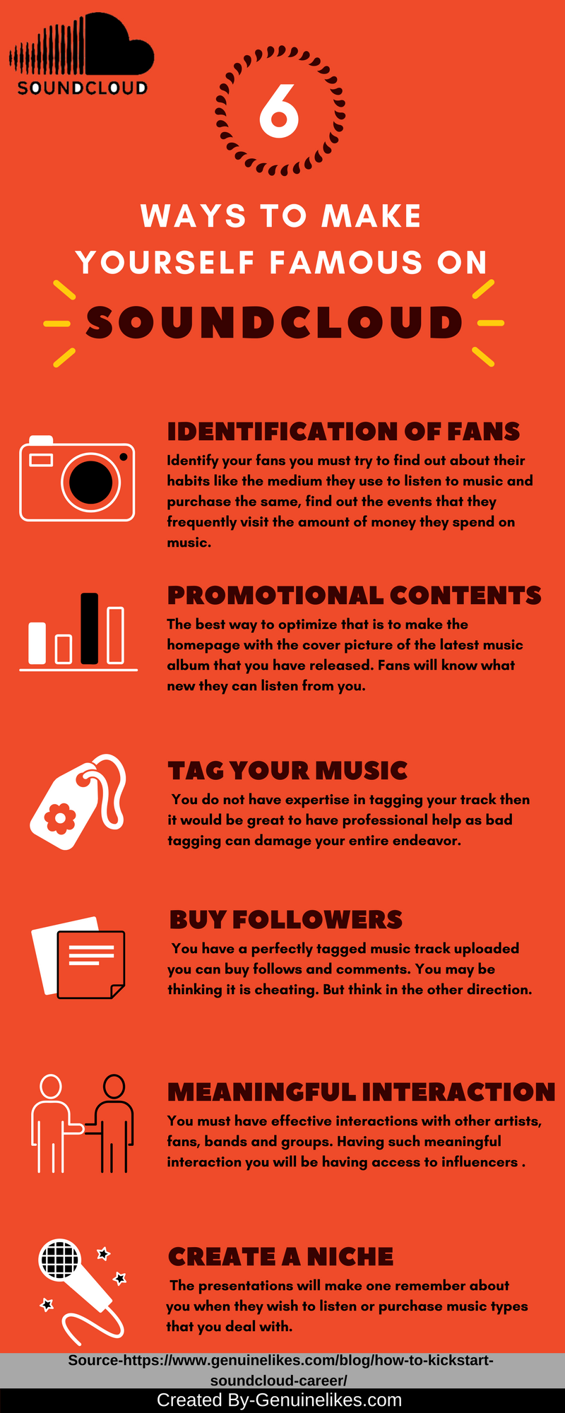 6 Ways To Follow To Make Yourself Famous On Soundcloud Genuinelikes How To Find Out Soundcloud Listening To Music