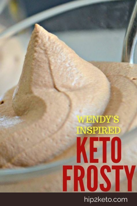 Keto Wendy's Schoko Frosty #chocolatefrosty