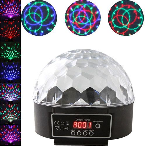 90 240v Digital Led Rgb Crystal Magic Ball Light Disco Dj Stage Lighting Us Plug Ebay Crystal Magic Ball Magic Ball Light Led Stage Lights