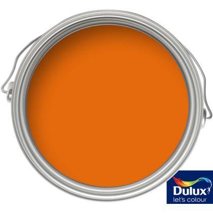 Orange Paint dulux feature wall morocco flame - matt paint - 1.25l | dulux