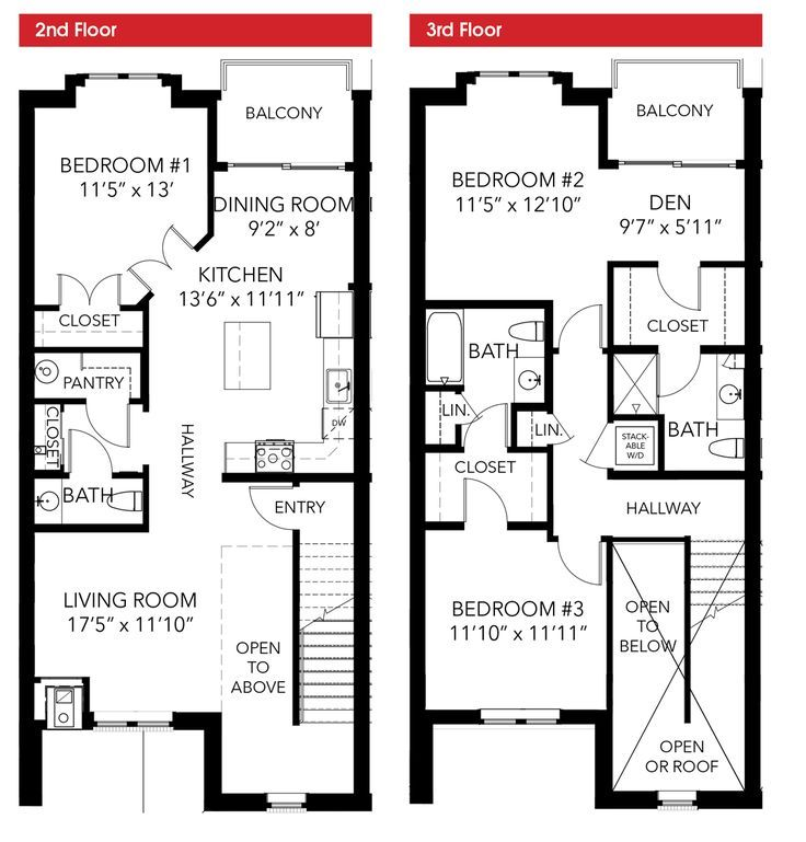 Image Result For 2 Floor Loft Duplex Townhouse Floorplans Town House Floor Plan Duplex Floor Plans Narrow Lot House Plans