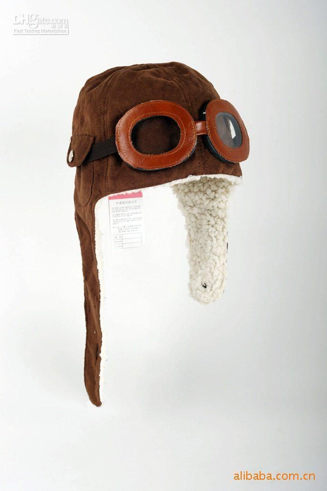 cfdfe082b50 Wholesale new Baby Aviator Pilot Hat Soft Lining Boy Brown Girls Christmas hats  goggles YE02006