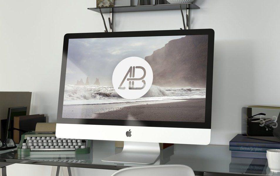 Realistic 5k iMac Mockup Vol.2 | Workplace | Pinterest | Mock up ...