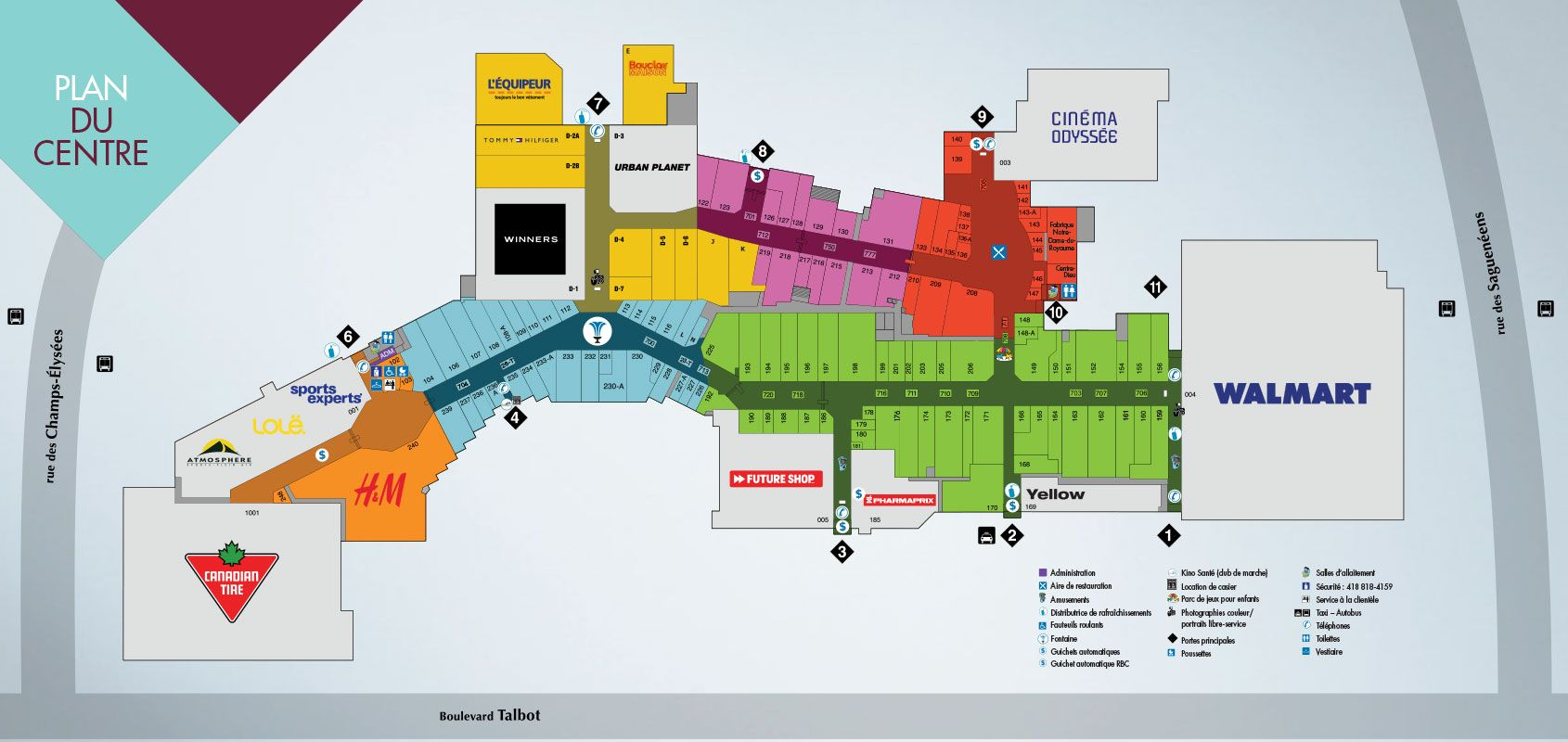 Place Du Royaume Shopping Plan Mall Maps Shopping Places Canada