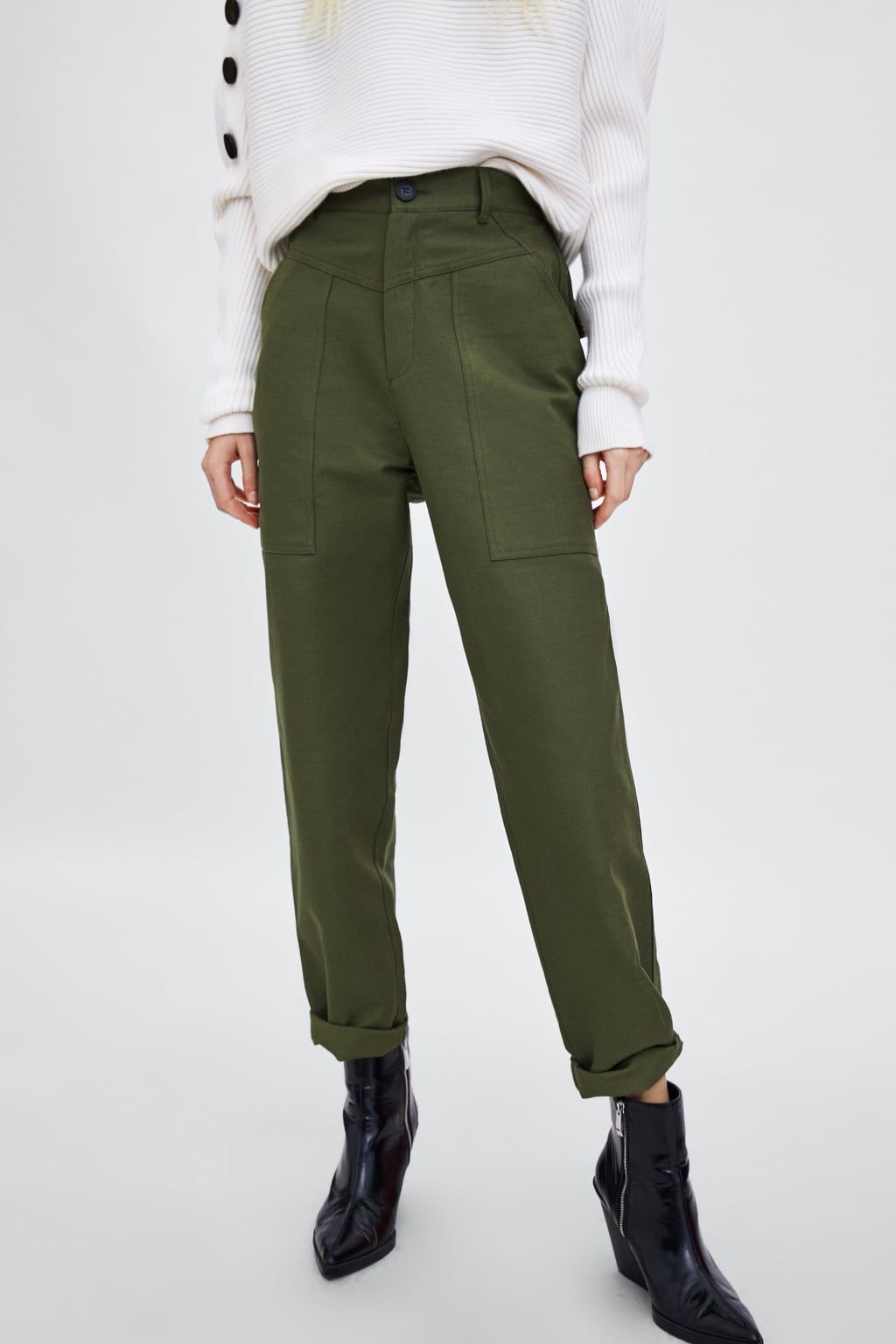985792265f7 Image 4 of CARGO PANTS from Zara | fashion in 2019 | Fashion, Cargo ...