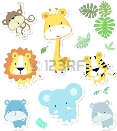 ilustraci n de dibujos animados de vectores de siete cr as y las ...
