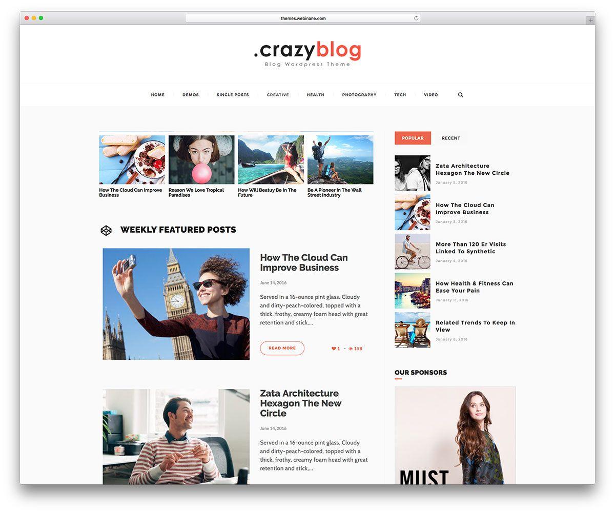 65+ Best Personal Blog WordPress Themes 2019 | KoC