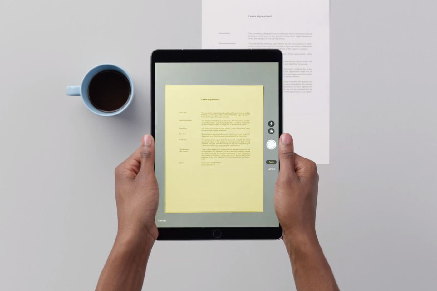 How to use apples terrific document scanner in ios 11