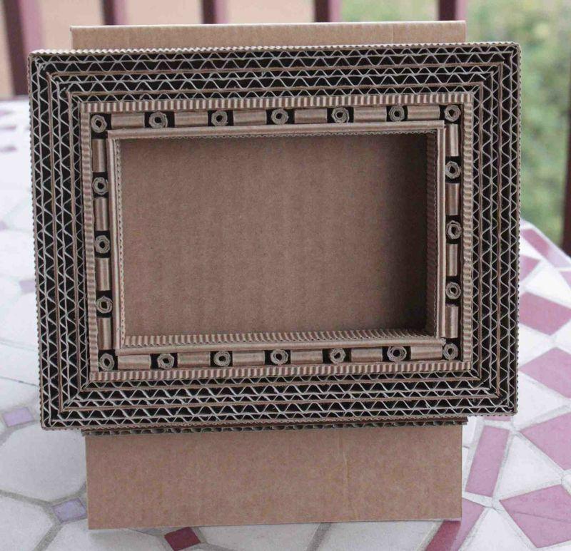 Petit cadre en carton | cartón, marcos | Pinterest | Karton ...