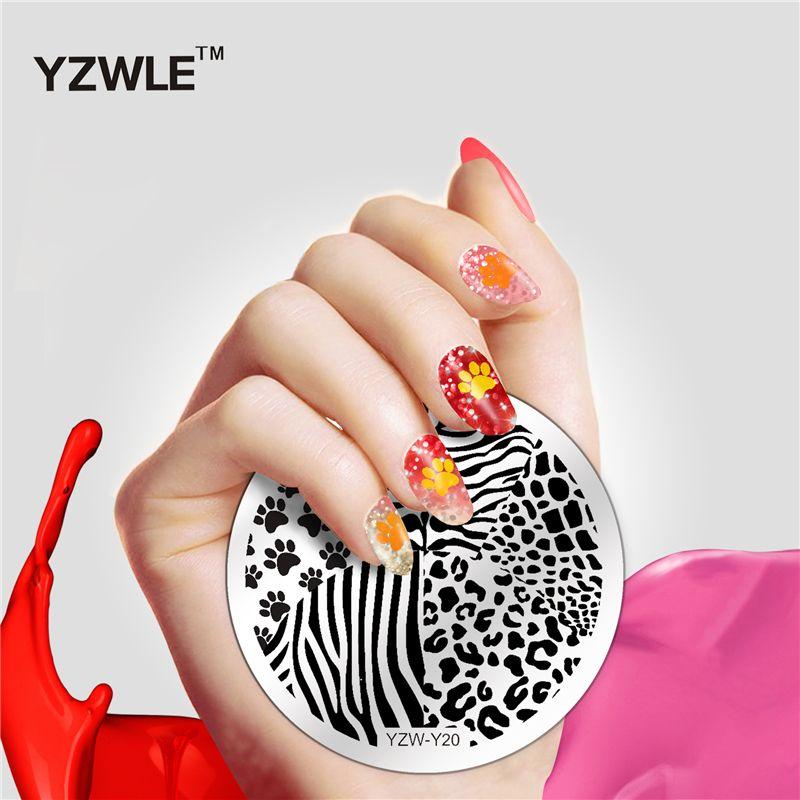 Yzwle 2017 Terbaru Nail Stamping Pelat 20 Gaya Untuk Pilihan Nail