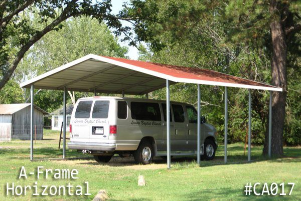 I Really Like The Simple Structure Of This Carport It Seems Like It Would Be Really Sturdy Since It S Made Of Metal Carports Steel Carports Carports For Sale