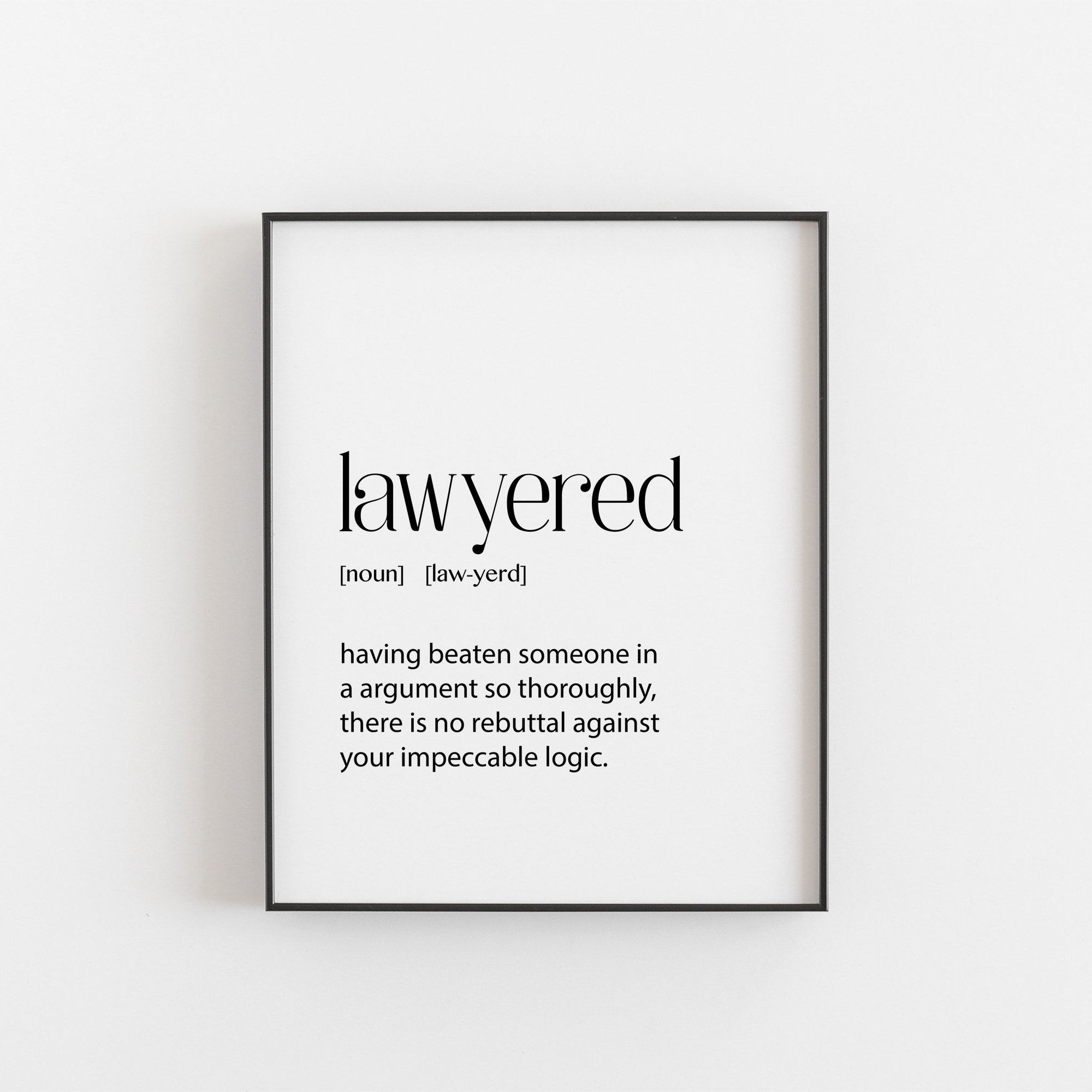 Lawyer Gift Lawyer Print Lawyer Decor Lawyer Gift For Women