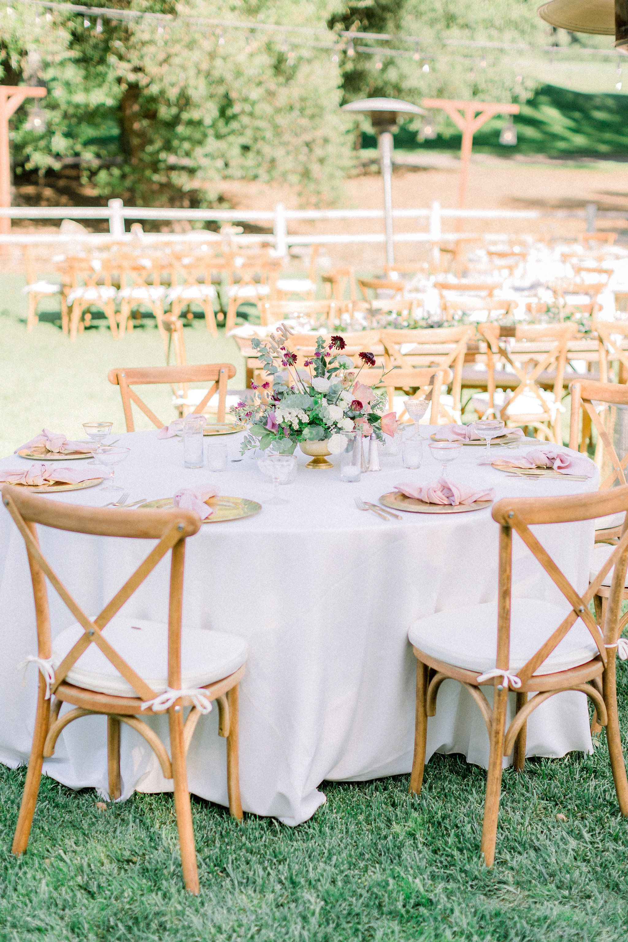 Farm Tables And More San Diego San Diego Wedding Rentals Cross Back Chairs Wedding Wedding Reception Chairs Round Wedding Tables Modern Wedding Reception