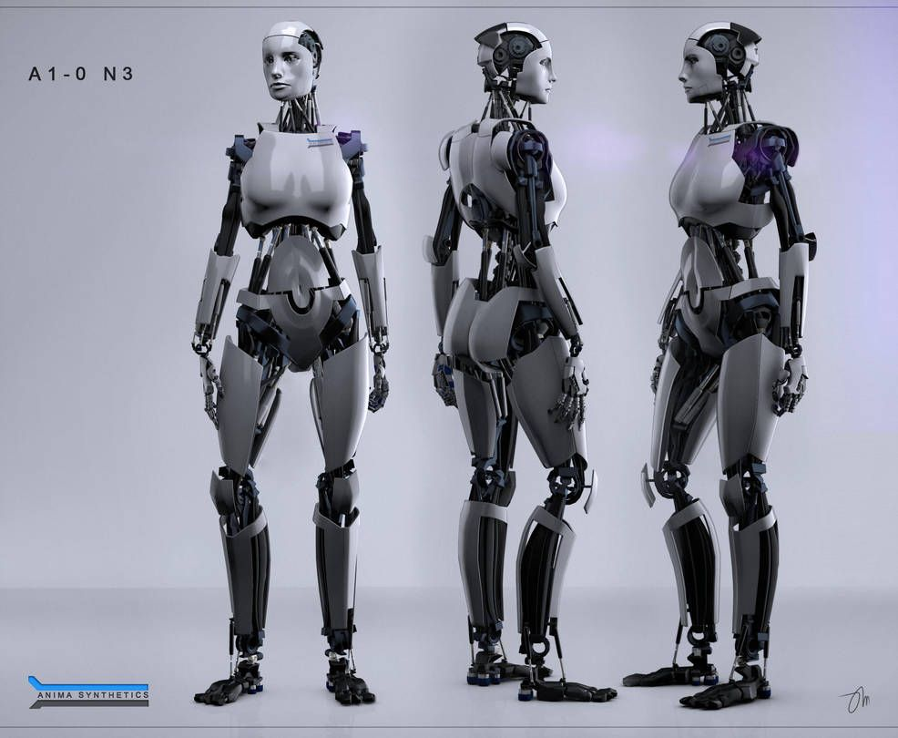 A1 0 N3 Views By Jasonmartin3d With Images Female Robot