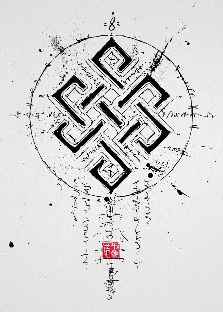 Buddhism Eternal Knot Symbols Pinterest Buddhism Tattoo And