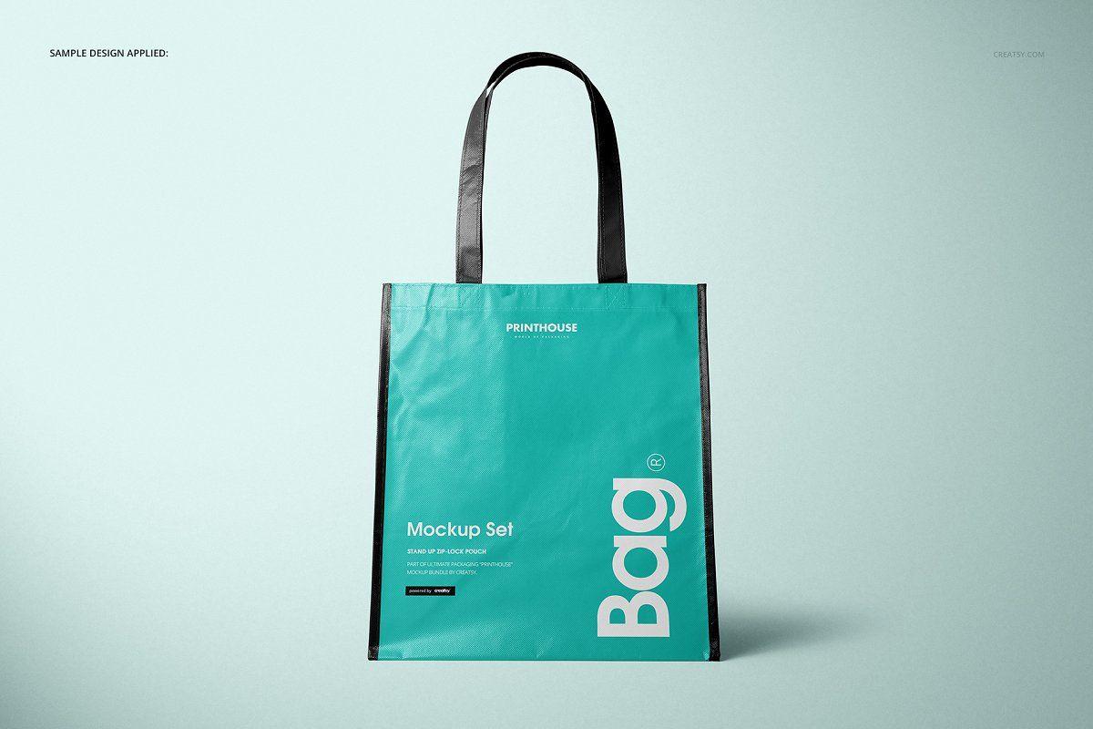 Download Laminated Non Woven Bag 03 Mockups Non Woven Bags Woven Bag Woven Tote Bag