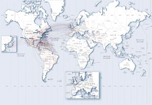 US Airways American Airlines Merger Heritage Logo Airlines - Us airways europe route map